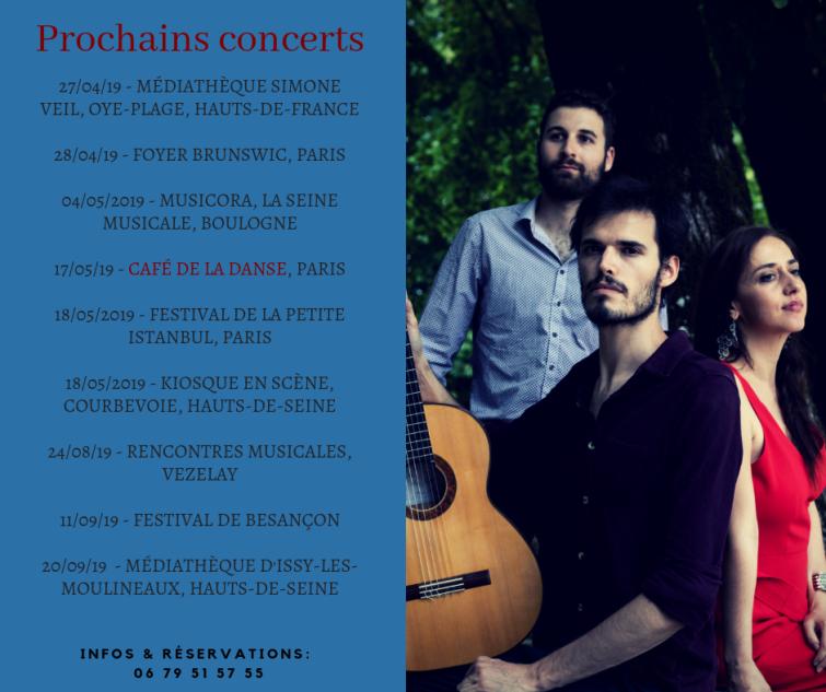 Prochains concerts 2019 TOTAL